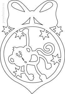 monkey_paper_cutting-vytynanka-novogodnjaja-208x300